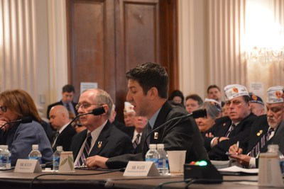Ryan Kules, Combat Stress Recovery Director Wounded Warrior Project, testifies before the House Committee on Veterans Affairs on March 3.