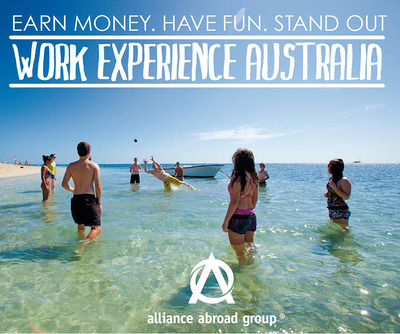 Earn Money. Have Fun. Stand Out. Work in Australia!.  (PRNewsFoto/Alliance Abroad Group)