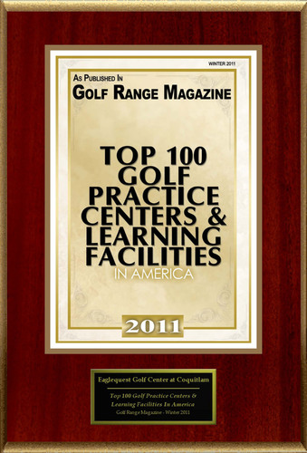 Eaglequest Golf Center at Coyote Creek Selected For 'Top 100 Golf Practice Centers And Learning