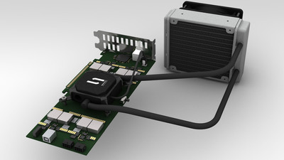 The GSX I(TM) PCIe Bitcoin Mining Card from CoinTerra(TM).  (PRNewsFoto/CoinTerra)