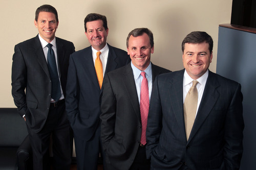 "Insight Sourcing Group executives rank among SDCE's ""Pros to Know."" Pictured from left to right: Jacob Wojcik, Brian Houpt, Tom Beaty, and Brent Eiland.  (PRNewsFoto/Insight Sourcing Group)"