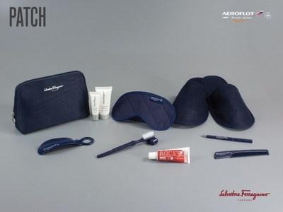 The luxury Salvatore Ferragamo branded amenity kits (PRNewsFoto/Aeroflot)