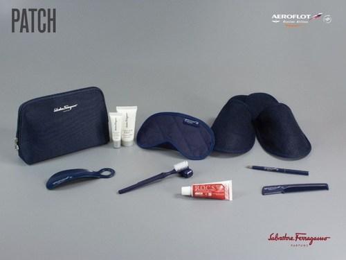 The luxury Salvatore Ferragamo branded amenity kits (PRNewsFoto/Aeroflot) (PRNewsFoto/Aeroflot)
