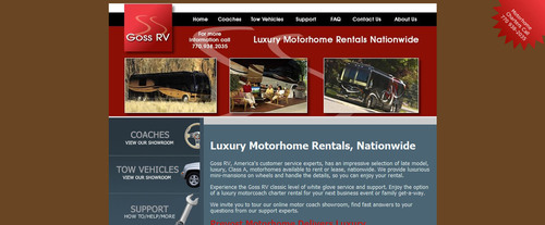 National headquarters for Goss RV and Luxury MotorHome sales is located near Atlanta, GA.  (PRNewsFoto/Goss RV)