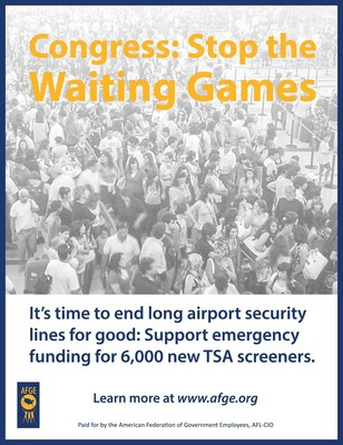 TSA Union in Full-Page Ad: Congress Must Fund 6,000 New Airport Security Screeners