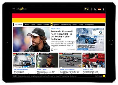 Motorsport.com, the world's premier motorsports digital media platform, today published its new German-targeted website, Motorsport.com - GERMANY.