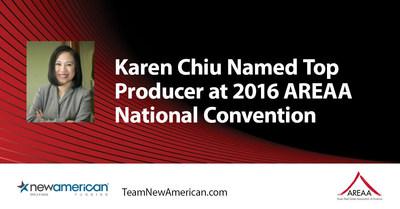 Karen Chiu Named Top Producer at 2016 AREAA National Convention.