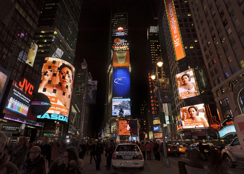 March 14, 2011, New York, NY -- Times Square in the heart of New York City is aglow during MS Awareness Week --  ...