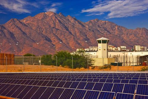 SunEdison Solar Power Plant at Ironwood State Prison California.  (PRNewsFoto/SunEdison)