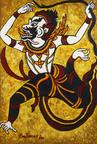Ana Tzarev, Good News (Hanuman, Ramakien Legend), 2006, oil on linen, 76-3/4 x 51-1/8 inches.  (PRNewsFoto/Ana Tzarev Gallery)