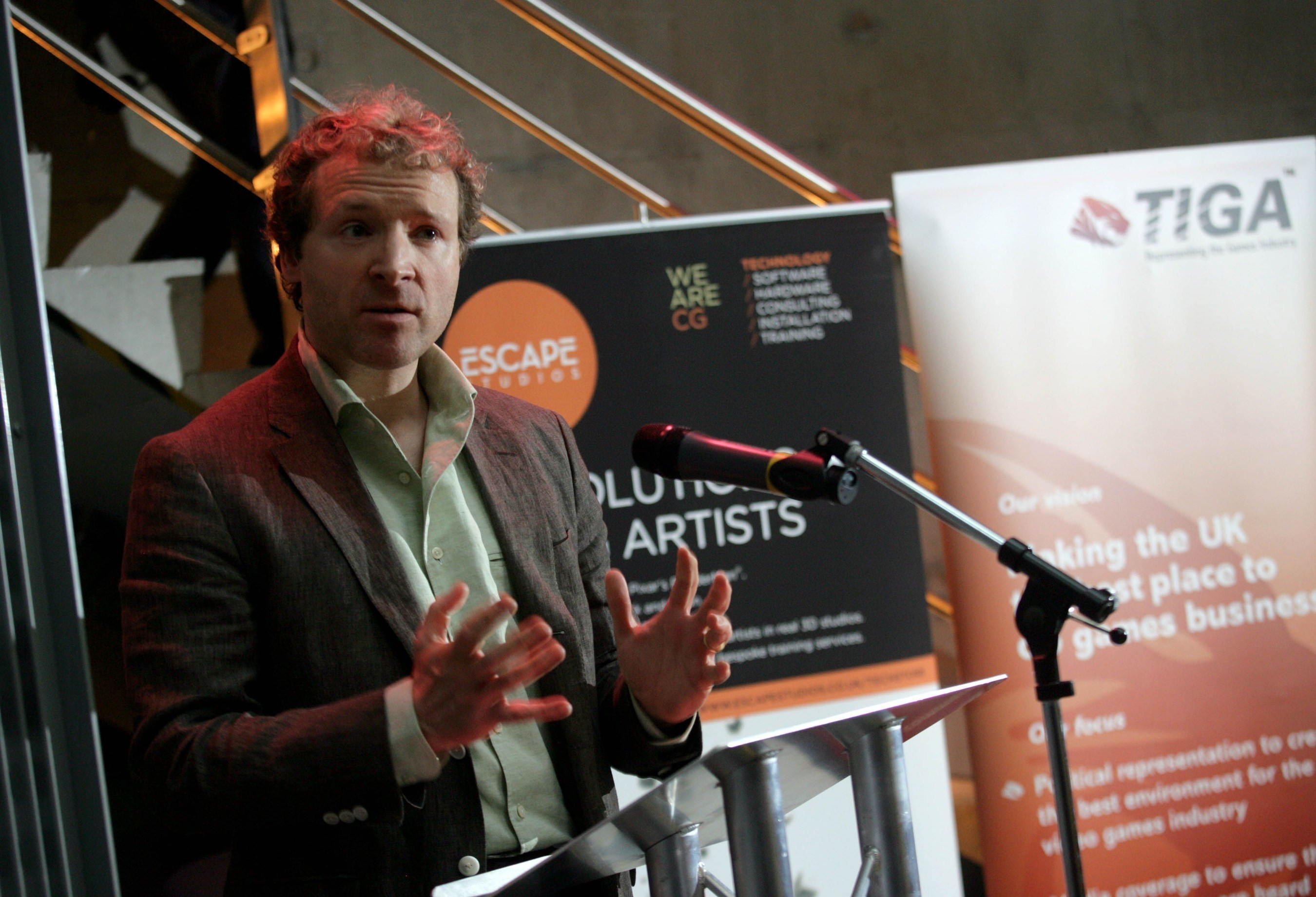 Dr Richard Wilson, CEO of the TIGA, the UK video games industry association (PRNewsFoto/TIGA)