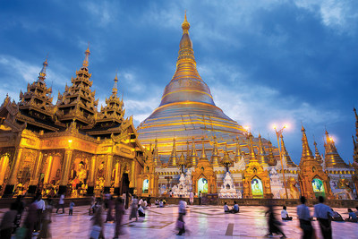 AmaWaterways cruisers must visit the diamond-covered Schwedagon Pagoda in Yangon.