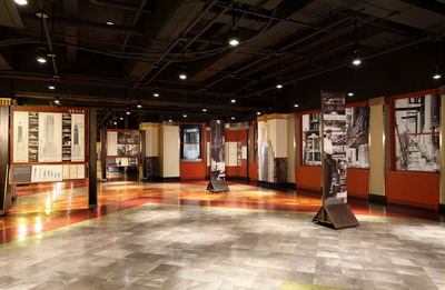 Empire State Building Unveils New Permanent Documentary-Style Exhibit on 80th Floor Chronicling the Engineering and Construction of the World's Most Famous Office Building.  (PRNewsFoto/Empire State Building)