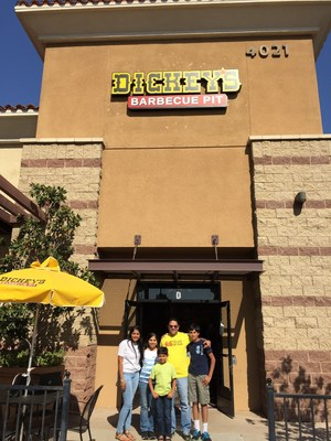 Dickey's Barbecue Pit celebrates new location with a three day grand opening celebration where three lucky guests win free barbecue for an entire year!