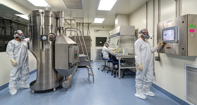 Pharmatek's GMP spray drying operation.