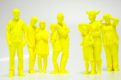 Stratasys 3D printed miniature models of the London Science Museum visitors using FDM ABS Plus material