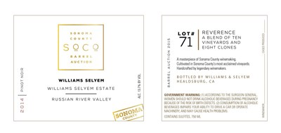 Unveiled today, the official Sonoma County Barrel Auction label features a clean, classic contemporary style and is printed on high quality, beautifully textured paper.