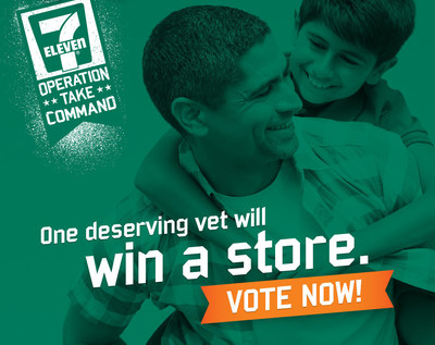 Visit www.VeteransFranchiseGiveaway.com to vote for semi-finalists in 7-Eleven's OPERATION: Take Command franchise giveaway contest now through May 22.