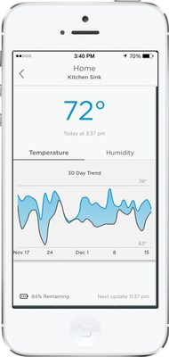 The Honeywell Lyric App for the Honeywell Lyric Wi-Fi Water Leak and Freeze Detector