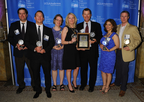 "A team of reporters from Reuters won the 2013 Gerald Loeb Award in the News Services category for ""Inside Chesapeake Energy."".  (PRNewsFoto/UCLA Anderson School of Management)"