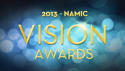 Official logo of the 19th Annual NAMIC Vision Awards scheduled for May 23, 2013 in Los Angeles at the Pacific Design Center. The NAMIC Vision Awards honor achievements in multiethnic television programming diversity.  (PRNewsFoto/NAMIC)