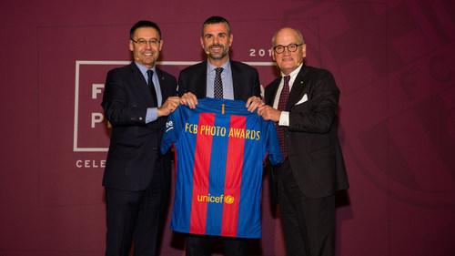 Presentacio FCBarcelona Photo Awards - Convent dels Àngels        Assistència:  President + C. Vilarrubi (PRNewsFoto/FC BARCELONA)
