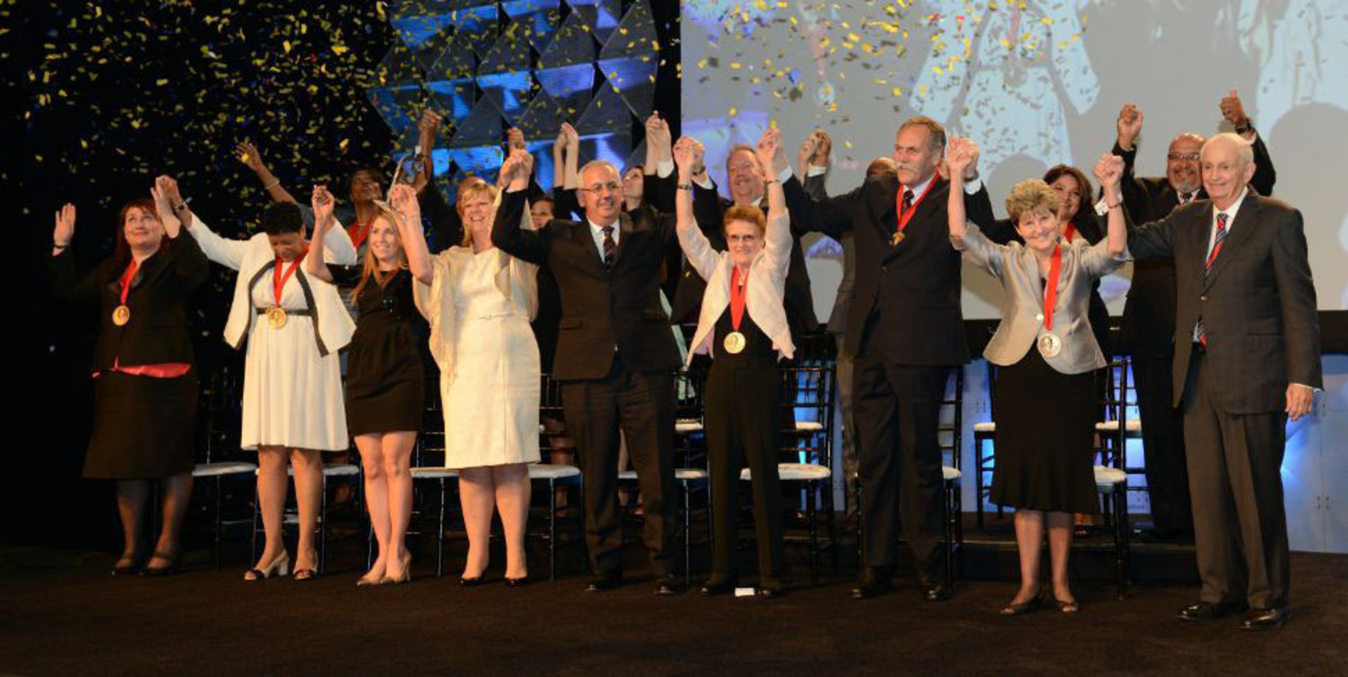 Marriott International honors ten associates from around the world with its highest honor, the J. Willard Marriott Award of Excellence.  (PRNewsFoto/Marriott International, Inc.)