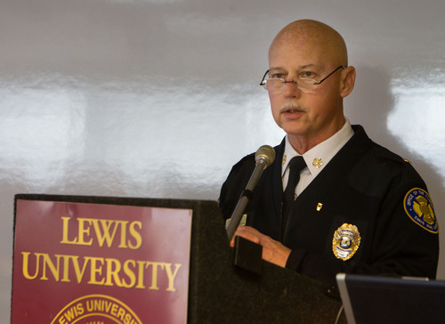 Illinois State Fire Marshal Larry Matkaitis discussed the importance of home fire sprinklers in preventing fire  ...