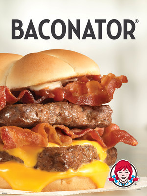 The Baconator and the new, limited-time Baconator Fries are the real deal. Made with real Applewood Smoked Bacon and cooked in-restaurant every day, these offerings represent Wendy's longstanding commitment to quality ingredients and fresh preparation. The new Baconator Fries load fresh-cooked bacon with warm cheddar cheese sauce and shredded cheddar cheese over Wendy's natural-cut fries. Wendy's famous Baconator combines six strips of bacon with two quarter pound, 100 percent, all-natural beef patties...
