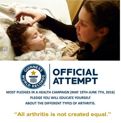 Over 300,000 children in the US alone are affected by autoimmune or auto-inflammatory arthritis. #AllArthritisNotEqual