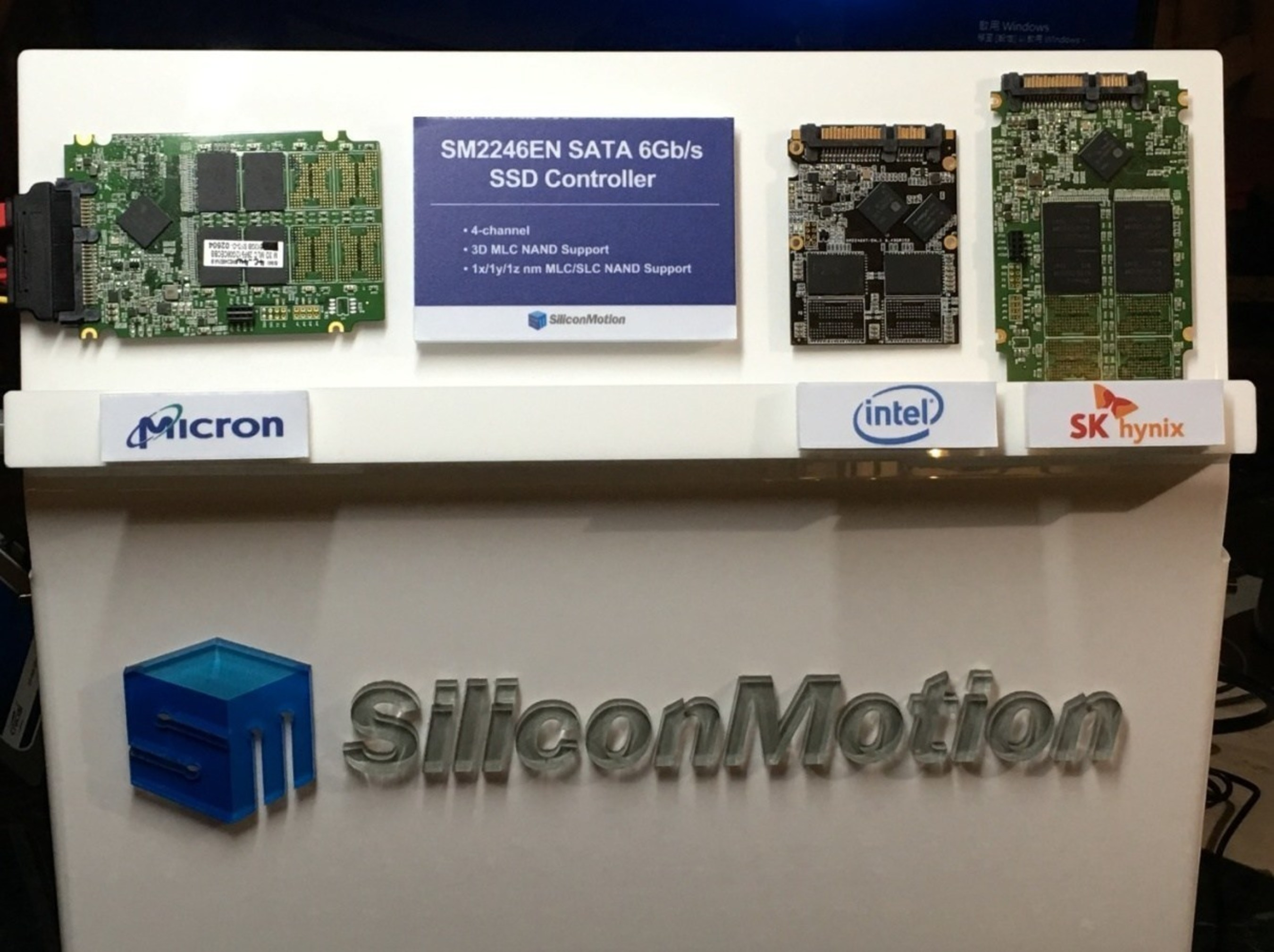 Silicon Motion's SM2246EN turnkey controller solution now supports 3D MLC NAND from multiple vendors.
