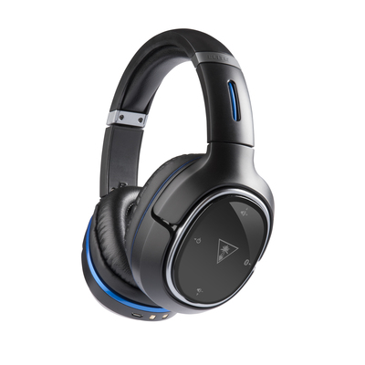 The new Elite 800 wireless surround sound headset for the PlayStation(R)4 from Turtle Beach. The first DTS Headphone:X 7.1 channel surround sound headset for console gaming, with invisible microphones, active noise cancellation, and snap-on swappable speaker plates.