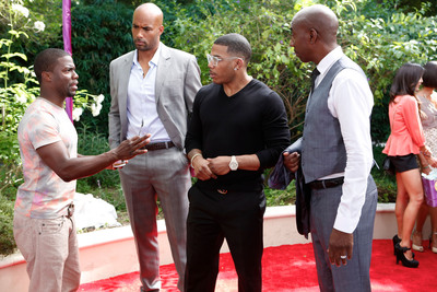 Kevin Hart, Boris Kodjoe, Nelly and JB Smoove return for another season of laughs in REAL HUSBANDS OF HOLLYWOOD premiering Tuesday, October 15th on BET.  (PRNewsFoto/BET Networks)