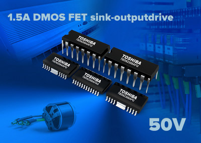 Toshiba's new TBD62064A and TBD62308A series of DMOS FET arrays cut power loss in high-voltage applications by 38 percent.