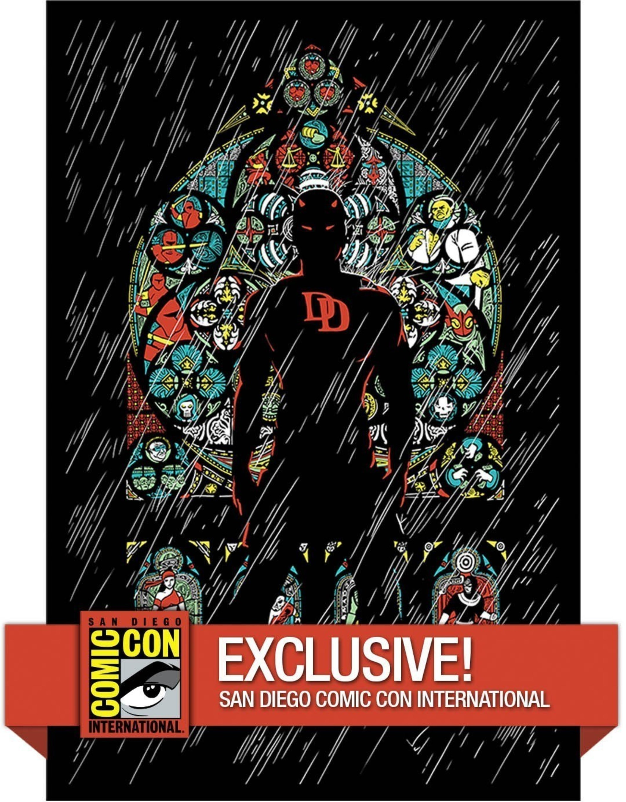 Upper Deck Authenticated is rolling out a new line of premium posters featuring original art from top comic artists as part of the company's new UpperDeckGallery.com website. Fans can capture the Marvel Daredevil exclusive variant poster at Comic-Con International this week at the Upper Deck booth. The standard version without the color background is available on UpperDeckGallery.com.