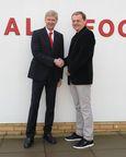 London - 27 January 2014: Bjoern Gulden CEO of PUMA and Arsène Wenger Arsenal FC Manager, confirm a new long term partnership (PRNewsFoto/PUMA)