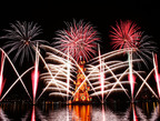 Spectacle of lights, colors and shapes: a large firework display marked the inauguration of the 17th Bradesco Seguros Christmas Tree, in the Lagoa Rodrigo de Freitas, in Rio de Janeiro.  (PRNewsFoto/Bradesco Seguros)
