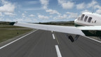 Pilot takes off in a Beechcraft A36 Bonanza in Prepar3D version 3.