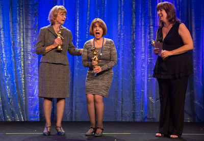 Meet the Winners -- Glori Spriggs (center) celebrates her grand prize win at the 46th Pillsbury Bake-Off(R) Contest with Second Prize Winner Sheila Suhan (left) and Third Prize Winner Antoinette Leal (right). (PRNewsFoto/Pillsbury)