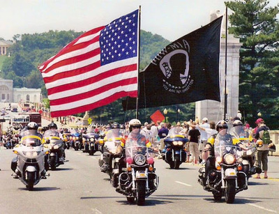 Hundreds of veterans honor WWII Normandy MIA soldier as They cross New Mexico on historic Run for the Wall motorcycle mission