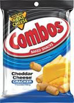 COMBOS SNACKS CHEDDAR CHEESE CRACKER - 15 OZ - 8/CA