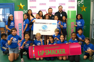 Members of The Boys & Girls Club of Pasadena enjoy some goodies and quality time with their friends and proud partner, Lip Smacker.