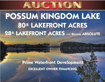 Real Estate Land Auction - Graford, TX, Possum Kingdom Lake. 108+/- Acres - Some Selling ABSOLUTE AUCTION. Call 800-650-0882 for more information or visit: https://www.National-Auction.com