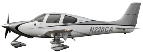 A true sense of traditional, elegant and luxurious style is captured in the new 2014 Cirrus Aircraft Platinum ...