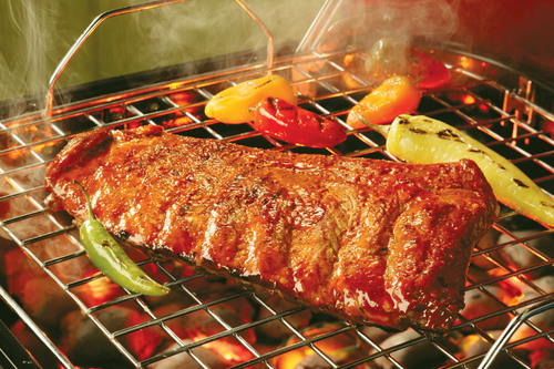 Fire-Cracker Pork Ribs.  (PRNewsFoto/The National Pork Board)