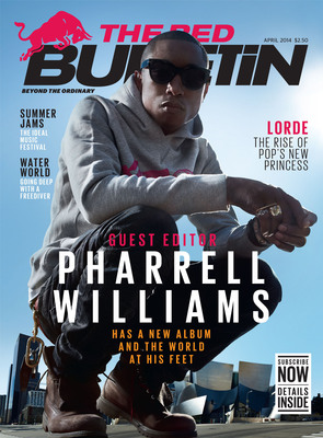 "Pharrell Williams reveals inspiration behind new album ""G I R L"" in exclusive interview featured in April issue of The Red Bulletin"