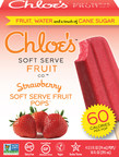 Chloe's Soft Serve Fruit Pops, Strawberry