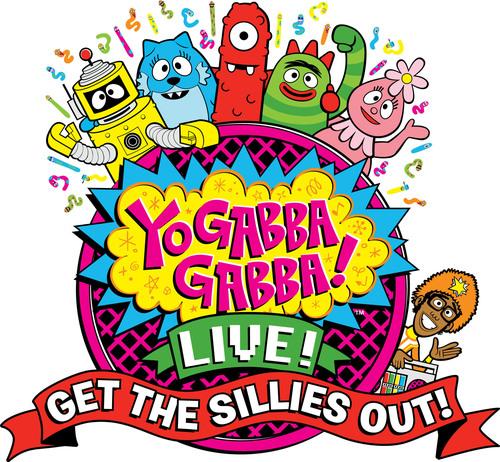 Logo- Yo Gabba Gabba! cast: DJ Lance Rock, Brobee, Muno, Foofa, Plex, Toodee.  (PRNewsFoto/W!LDBRAIN Entertainment)