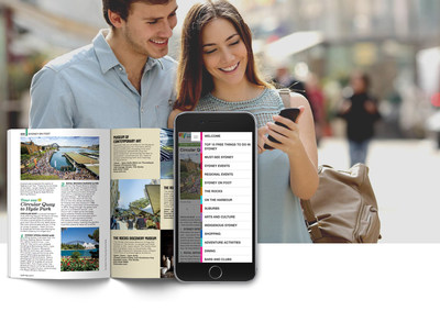 Travel brochures and guides on mobile
