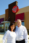 Huddle House franchisee Mike Millican and his wife, Debra